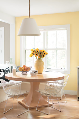 yellow paint dining room