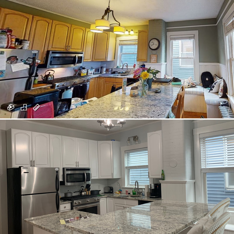boston kitchen cabinet painting service